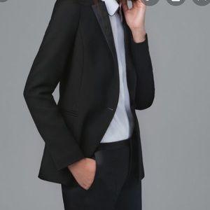 Zara Basic Satin Lapel Tuxedo Blazer Jacket